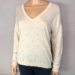 Essentiel Antwerp Studded Pullover Sweater Cream